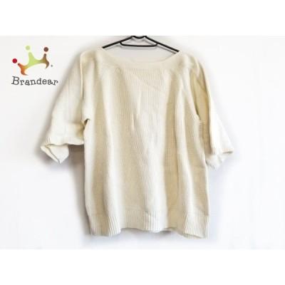 ドレステリア DRESSTERIOR 七分袖セーター レディース 美品 - アイボリー 新着 20200616