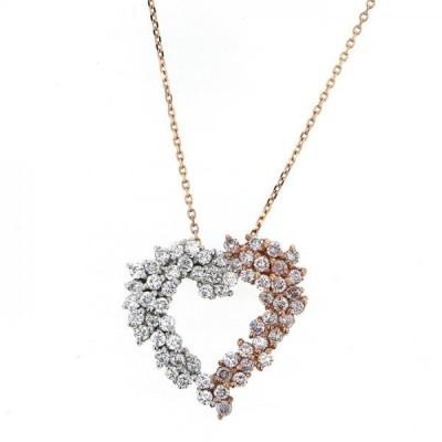 K18WG ホワイトゴールド K18PG ピンクゴールド ダイヤモンド ネックレス/ペンダント