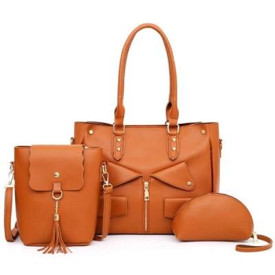 [アサコリン] おしゃれ 通勤バッグ レディース ビジネスバッグ 大容量バッグインバッグ 就活バッグ カバン イエロー 3ピース