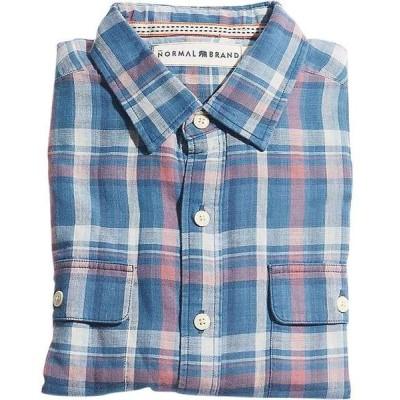 ノーマルブランド メンズ シャツ トップス The Normal Brand Men's Check Shirt