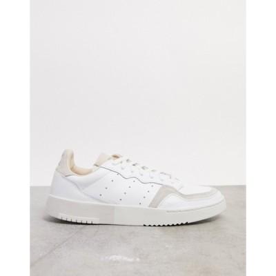 アディダス メンズ スニーカー シューズ adidas Originals supercourt sneakers in white