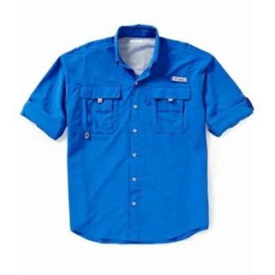 コロンビア メンズ シャツ トップス PFG Bahama II Omni-Shade Long-Sleeve Solid Shirt Vivid Blue