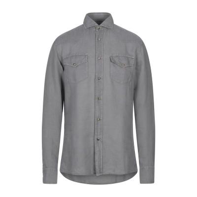 ブルネロ クチネリ BRUNELLO CUCINELLI シャツ グレー L 麻 62% / コットン 38% シャツ