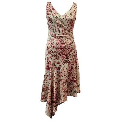 テイラー ワンピース トップス レディース Floral-Print Asymmetrical-Hem Midi Dress Ivory Floral