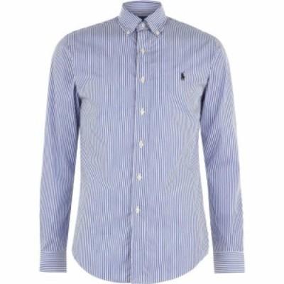 ラルフ ローレン Polo Ralph Lauren メンズ シャツ トップス Stripe Poplin Slim Fit Shirt Blue/White