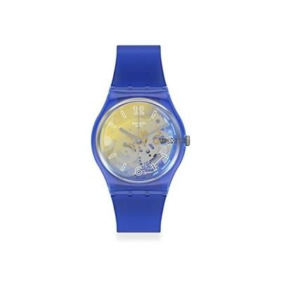 腕時計 スウォッチ メンズ GN278 Swatch Gent Standard Quartz Silicone Strap, Blue, 18 Casual Watch (M