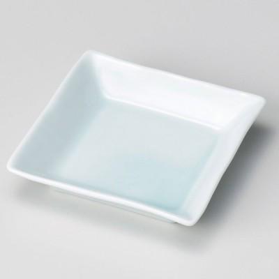 業務用食器 青白磁正角深皿(松花堂) 11.3×11.3×2.4�