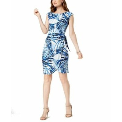 Jessica Howard ジェシカハワード ファッション ドレス Jessica Howard Womens Dress Blue Size 12 Sheath Abstract Print