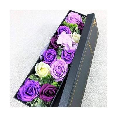 【BIO】フレグランスソープフラワー 新商品 MサイズローズスリムBOX フタ付ボックス お祝い 記念日 お見舞い 母の日 父の日 (Mパー