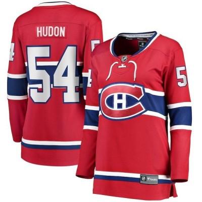 ファナティクス ブランデッド レディース Tシャツ トップス Charles Hudon Montreal Canadiens Fanatics Branded Women's Home Breakaway Player Jersey