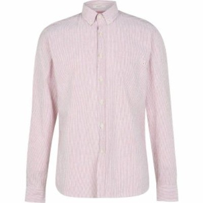 HKT メンズ シャツ トップス Bengal Striped Shirt Red/WhiteAH