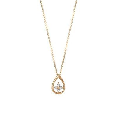 【テイクアップ】K10ダイヤモンド ツユクローバーネックレス