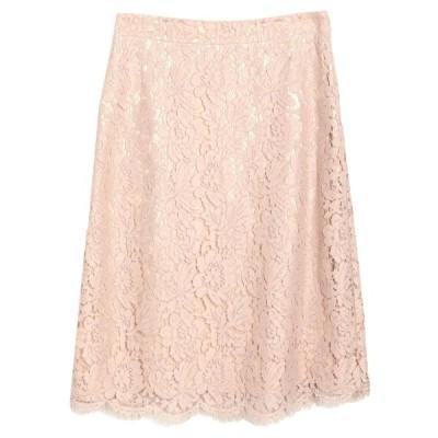 LES COPAINS ひざ丈スカート ファッション  レディースファッション  ボトムス  スカート  ロング、マキシ丈スカート ピンク