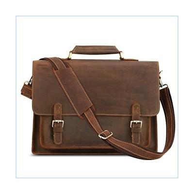 Kattee Leather Briefcase 15 inch Laptop Tote Bag Messenger Bag Shoulder Bag for Men Brown並行輸入品