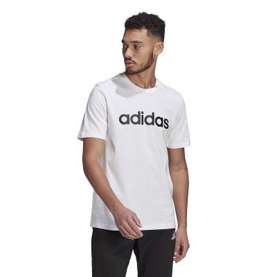 adidas (アディダス) エッセンシャル エンブロイダード リニアロゴ 半袖Tシャツ / ESSENTIALS EMBROIDERED LINEAR LOGO TEE L . メンズ 29192 GL0058