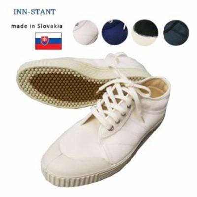 INN-STANT インスタント ローカット キャンバス スニーカー 2LINE CANVAS SNEAKER スロバキア製 br-6452
