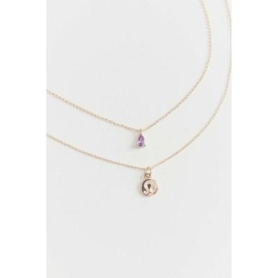 アーバンアウトフィッターズ Urban Outfitters レディース ネックレス チャーム ジュエリー・アクセサリー zodiac charm layering necklace set Leo