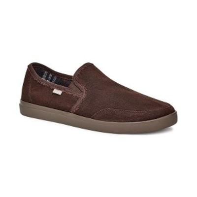 サヌーク メンズ スリッポン・ローファー シューズ Men's Vagabond Slip-On Sneakers Dark Brown