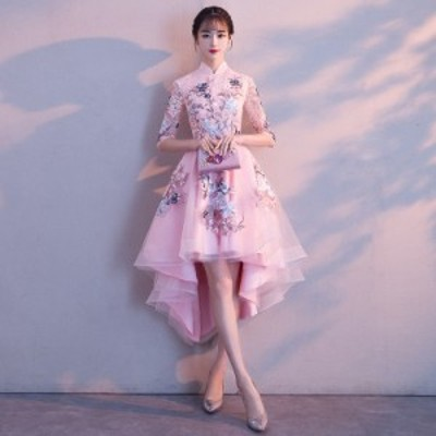 パーティードレス イブニングドレス フィッシュテール 安い 可愛い 結婚式 披露宴 ブライダル ロングドレス ドレス【フィッシュテール】