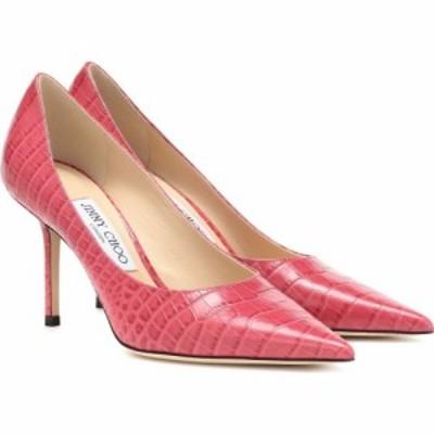 ジミー チュウ Jimmy Choo レディース パンプス シューズ・靴 love 85 croc-embossed leather pumps Candyfloss