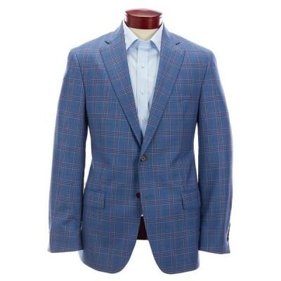 ハートシャファネールマークス メンズ ジャケット&ブルゾン アウター Modern Fit Light Blue Multi-Colored Plaid Wool Sportcoat Blue