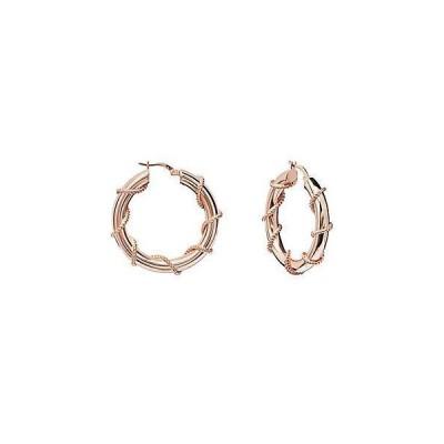 レディース アクセサリー  Gabi Rielle Rose Gold Over Silver Earrings