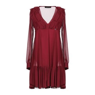MANGANO ミニワンピース&ドレス ボルドー 44 ポリエステル 100% ミニワンピース&ドレス