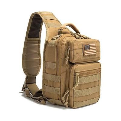 SHELCUP EDC Sling Bag Pack, Rover Shoulder Molle Backpack, with USA Flag Pa