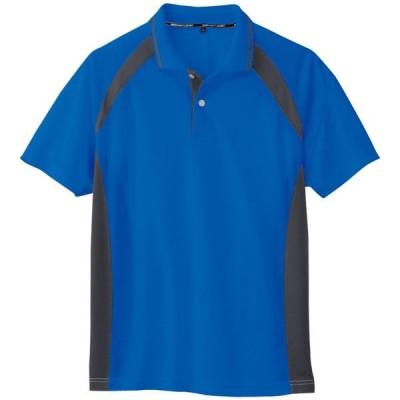 コーコス 吸汗速乾半袖ポロシャツ ブルー 4L ※取寄品 AS-1627