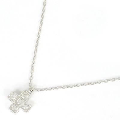 ダイヤモンド ネックレス ミニクロス D0.20ct PT850 PT900 中古 アクセサリー 宝石 プラチナ Diamond