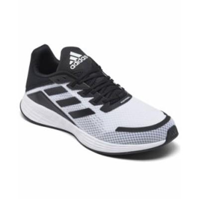 アディダス メンズ スニーカー シューズ Men's Duramo SL Running Sneakers from Finish Line Footwear White, Core Black