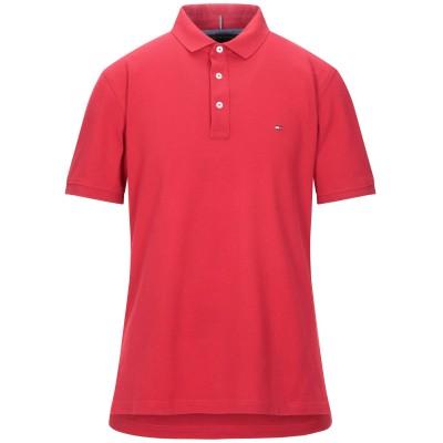 YOOX - トミーヒルフィガー TOMMY HILFIGER ポロシャツ レッド XXL コットン 100% ポロシャツ