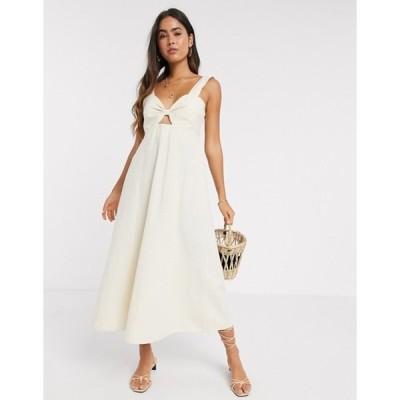 ヴェロモーダ レディース ワンピース トップス Vero Moda sleeveless maxi dress in cream