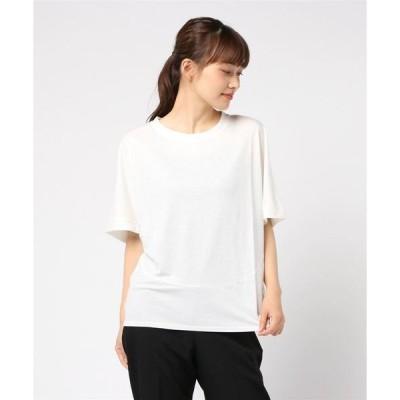 tシャツ Tシャツ コットンナイロンワイドシルエットプルオーバー