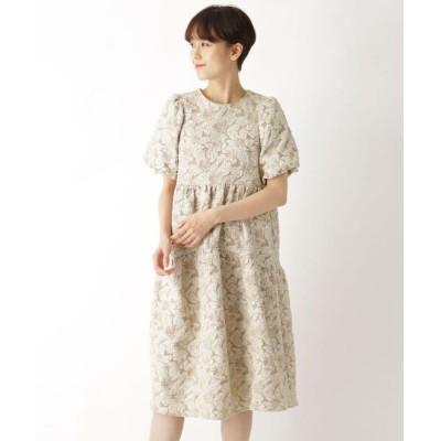 AG by aquagirl/エージー バイ アクアガール ふくれジャカードワンピース ベージュ(052) 38(M)
