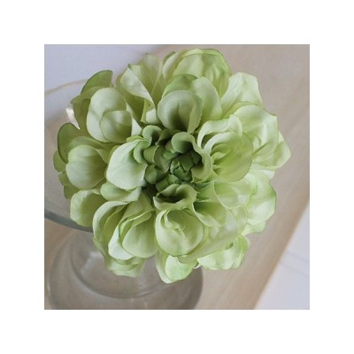 即日 造花 アスカ ダリアピック ホワイトグリーン A-31451-52 造花 花材「た行」 ダリア