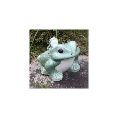 信楽焼 10号青蛙 縁起物のカエル 陶器かえる しがらき焼き [ka-0053]