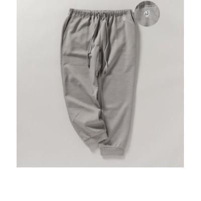 【WEB限定】SHIPS: バルキー ポンチ ワンポイント ロゴワッペン ジョガー パンツ