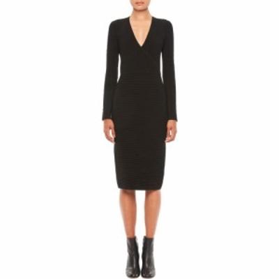 アルマーニ EMPORIO ARMANI レディース ワンピース ワンピース・ドレス Ottoman Stitch Long Sleeve Wool Dress Black