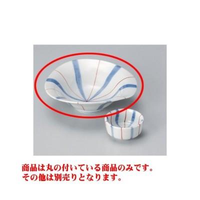 和食器 / 刺身 十草朱線なぶり向付 寸法:15.6 x 5.4cm