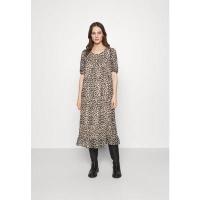 レディース ファッション SLFTILDA MIDI DRESS - Day dress - smoke gray