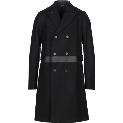 ヌメロ ヴェントゥーノ N°21 コート ブラック 48 バージンウール 80% / ナイロン 20% コート