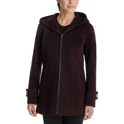 ロンドンフォグ London Fog レディース コート フード アウター Hooded Coat Burgundy