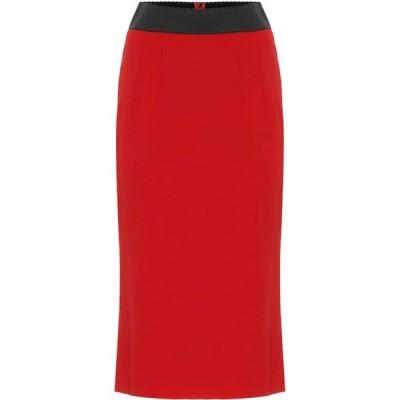 ドルチェ&ガッバーナ Dolce & Gabbana レディース ひざ丈スカート ペンシルスカート スカート High-Rise Pencil Skirt Rosso Scurissimo