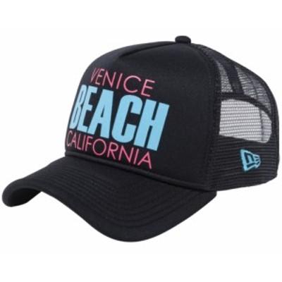 【新品】ニューエラ 940キャップ スナップバック エーフレームトラッカー ベニスビーチ ブラックメッシュ New Era NewEra