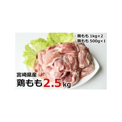 ふるさと納税 真空個包装 鶏もも2.5kg 宮崎県産【A159】※90日以内発送 宮崎県新富町