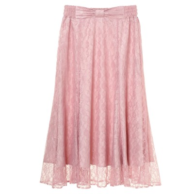 リボンベルト レースマーメイドスカート