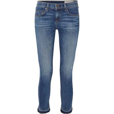 ラグ&ボーン rag & bone レディース ジーンズ・デニム ボトムス・パンツ dre capri cropped distressed mid-rise slim-leg jeans
