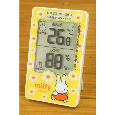 ベルコット ミッフィーデジタル温湿度計BS-039