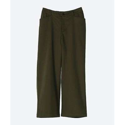 <green nout(Women/大きいサイズ)/グリーンノート> 20/-×16/- サテンストレッチパンツ カーキ【三越伊勢丹/公式】